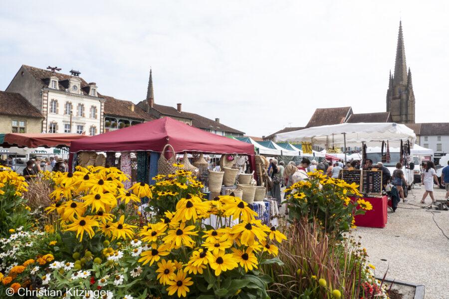 marché à Marciac (Gers)