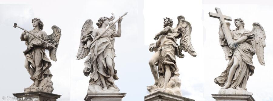 Anges du Bernin sur le Pont Saint Ange