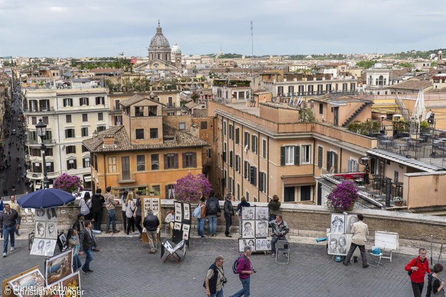 Vue sur Rome depuis la Trinité-des-Monts