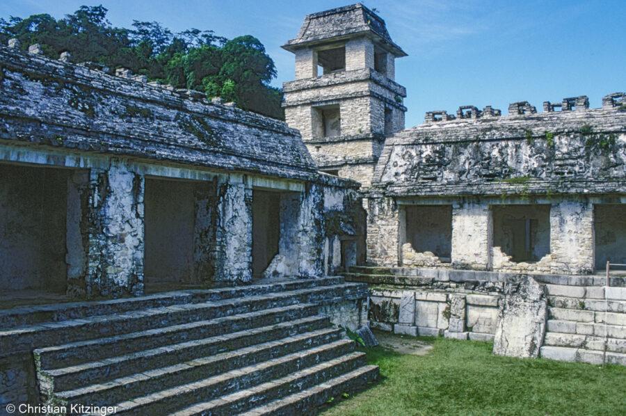 Torre del observatorio del palacio Ruinas mayas de Palenque