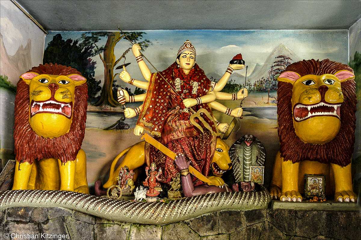 Durga et les deux lions